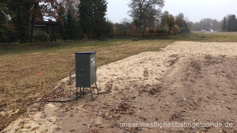 Grundstückskauf abgeschlossen / Baustrom vorhanden