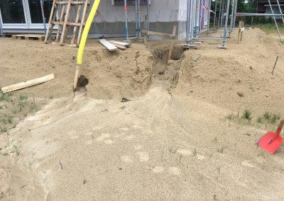 Sand zum zurückschippen