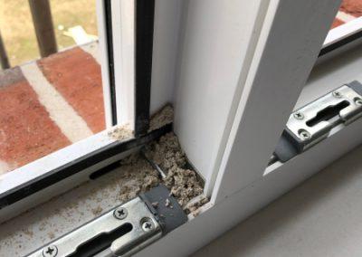Verfugen bei offenen Fenstern - keine gute Idee