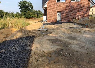 Fundamente für die Garage